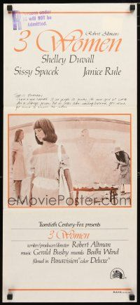 2d322 3 WOMEN Aust daybill '77 Robert Altman, Shelley Duvall, Sissy Spacek, Janice Rule, different