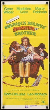 2d330 ADVENTURE OF SHERLOCK HOLMES' SMARTER BROTHER Aust daybill '75 art of Wilder, Kahn & Feldman