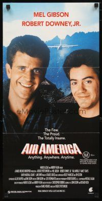 2d333 AIR AMERICA Aust daybill '90 Mel Gibson & Robert Downey Jr. are flying for the CIA!