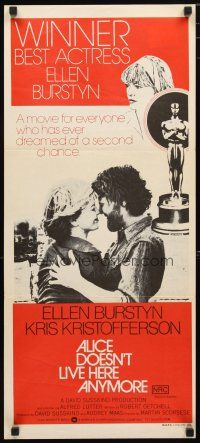 2d334 ALICE DOESN'T LIVE HERE ANYMORE Aust daybill '75 Martin Scorsese, Burstyn, Kristofferson!