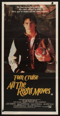 2d336 ALL THE RIGHT MOVES Aust daybill '83 close up of high school football player Tom Cruise!