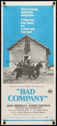2d350 BAD COMPANY Aust daybill '72 Jeff Bridges, Barry Brown, Jim Davis, western!