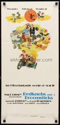 2d357 BEDKNOBS & BROOMSTICKS Aust daybill R79 Walt Disney, Angela Lansbury, great cartoon art!