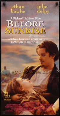 2d359 BEFORE SUNRISE Aust daybill '95 directed by Richard Linklater, Ethan Hawke, Julie Delpy