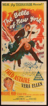 2d360 BELLE OF NEW YORK Aust daybill '52 art of Fred Astaire dancing with sexy Vera-Ellen!