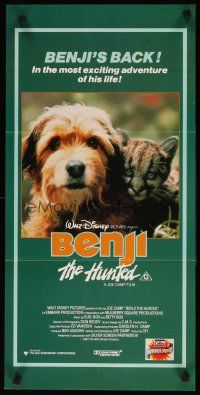 2d362 BENJI THE HUNTED Aust daybill '87 great close up of Disney Border Terrier & cute cougar cub!