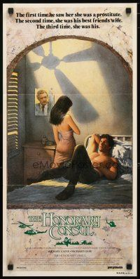 2d366 BEYOND THE LIMIT Aust daybill '83 art of Michael Caine, R. Gere & sexy girl by Richard Amsel!