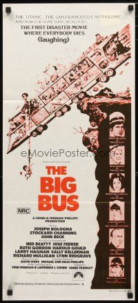 2d370 BIG BUS Aust daybill R70s Jack Davis art, first disaster movie where everyone dies laughing!