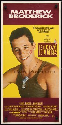2d374 BILOXI BLUES Aust daybill '88 military soldier Matthew Broderick, written by Neil Simon!