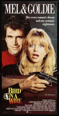 2d376 BIRD ON A WIRE Aust daybill '90 great close up of Mel Gibson & Goldie Hawn!