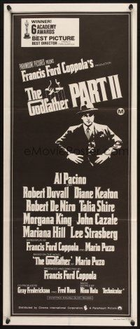 2d575 GODFATHER PART II Aust daybill '74 Al Pacino in Francis Ford Coppola classic crime sequel!