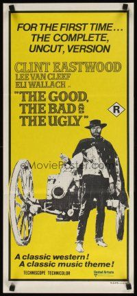 2d580 GOOD, THE BAD & THE UGLY Aust daybill R70s Clint Eastwood by cannon, Sergio Leone!