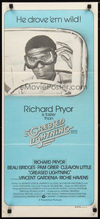 2d582 GREASED LIGHTNING Aust daybill '77 great image of wacky race car driver Richard Pryor!