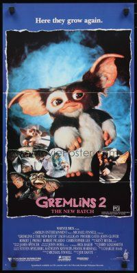 2d587 GREMLINS 2 Aust daybill '90 different montage of Gizmo & wacky monsters!