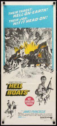 2d602 HELL BOATS Aust daybill '70 their target: Hell-on-Earth, their job: hit it head-on!