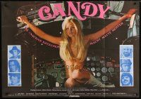 2d003 CANDY German 33x47 '69 Marlon Brando, Ringo Starr, different image of sexy naked Ewa Aulin!