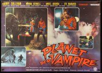 2d007 PLANET OF THE VAMPIRES German 33x47 '65 Mario Bava, cool different sci-fi horror images!