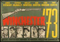 2d010 WINCHESTER '73 German 33x47 R60s cool art of James Stewart, co-stars & rifle by Rolf Goetze!