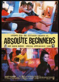 2d063 ABSOLUTE BEGINNERS German '86 David Bowie stars, cool image of girls at bar!