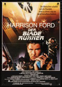2d067 BLADE RUNNER German '82 Ridley Scott sci-fi classic, montage of Harrison Ford & cast!