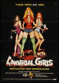 2d069 CANNIBAL GIRLS German '74 Canadian horror comedy directed by Ivan Reitman, different art!