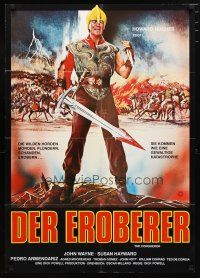 2d074 CONQUEROR German R70s different art of barbarian John Wayne with bloody sword!