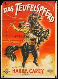2d075 DEVIL HORSE German '47 cool Rutters art of cowboy Harry Carey on horse with lasso, serial!