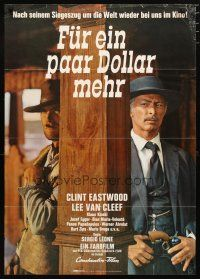 2d080 FOR A FEW DOLLARS MORE German R69 Sergio Leone, cool image of Clint Eastwood & Lee Van Cleef