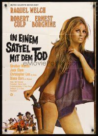 2d086 HANNIE CAULDER German '72 full-length sexiest half-naked cowgirl Raquel Welch with gun!