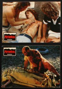 2d049 PIRANHA 2 German LCs '78 gruesome close images of killer fish victims!