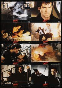 2d056 GOLDENEYE German LC poster '95 Pierce Brosnan as James Bond, cool exploding jet scene!