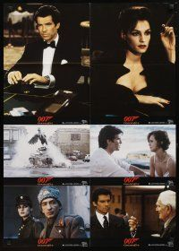 2d057 GOLDENEYE German LC poster '95 Pierce Brosnan as James Bond, cool tank & gambling scenes!