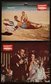 2d051 THUNDERBALL 2 German LCs R70s Sean Connery as James Bond & sexy Claudine Auger!