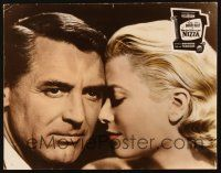 2d055 TO CATCH A THIEF German LC '55 best c/u of Grace Kelly & Cary Grant, Alfred Hitchcock