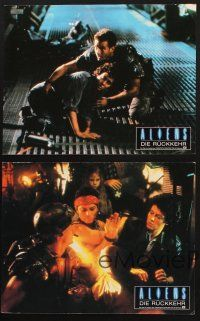 2d035 ALIENS 8 German LCs '86 James Cameron, Sigourney Weaver, Michael Beihn, different images!