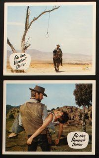 2d019 FISTFUL OF DOLLARS 19 German LCs '65 Clint Eastwood & Marianne Koch, great different images!