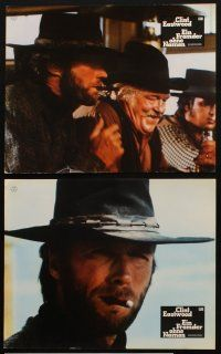2d029 HIGH PLAINS DRIFTER 12 German LCs '73 great different images of cowboy Clint Eastwood!
