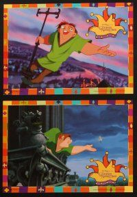 2d030 HUNCHBACK OF NOTRE DAME 12 German LCs '96 Walt Disney cartoon from Victor Hugo's novel!