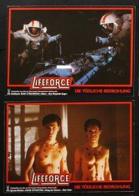 2d038 LIFEFORCE 8 German LCs '85 Tobe Hooper directed, great images of space vampires!