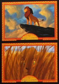 2d040 LION KING 7 German LCs R90s classic Disney cartoon set in Africa, great images!