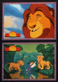 2d034 LION KING 9 German LCs '94 classic Disney cartoon set in Africa, great different images!