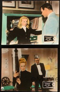 2d043 MARNIE 4 German LCs '64 Sean Connery & Tippi Hedren in Alfred Hitchcock's sex mystery!