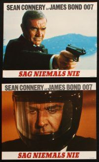 2d021 NEVER SAY NEVER AGAIN 18 German LCs '83 Sean Connery as James Bond 007, Basinger, Carrera!