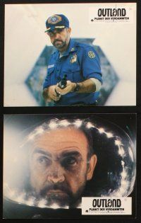 2d031 OUTLAND 12 German LCs '81 Sean Connery, Peter Boyle & Frances Sternhagen on Jupiter