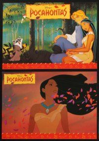 2d027 POCAHONTAS 16 German LCs '95 Disney, Native American Indians, great cartoon images!