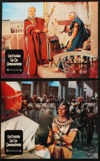 2d046 TEN COMMANDMENTS 3 German LCs R70s Cecil B. DeMille classic, Charlton Heston & Yul Brynner!