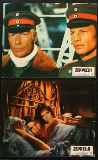 2d023 ZEPPELIN 17 German LCs '71 Michael York, Elke Sommer, cool World War I images!