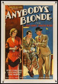 2e074 ANYBODY'S BLONDE linen 1sh '31 bad Dorothy Revier plays with the fire of men's affections!