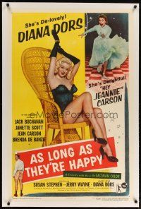 2e075 AS LONG AS THEY'RE HAPPY linen 1sh '57 sexy Diana Dors is de-lovely, hey Jeannie Carson!