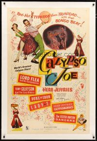 2e102 CALYPSO JOE signed linen 1sh '57 by Herb Jeffries, who performed with his Calypsomaniacs!